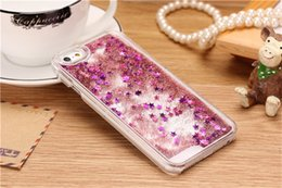 Wholesale New Dynamic Liquid Glitter Sand Quicksand Star Case For iphone 7 Crystal Clear Transparent Hard Phone Back Cover