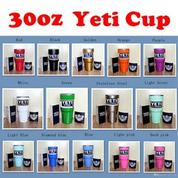 Wholesale Christmas Gift Cups - 2016 Christmas Gifts 30oz 14 Colors Yeti Rambler Tumbler Cup Coolers Powder Coated Bilayer Vacuum Insulation Cup Yeti Tumbler Mug
