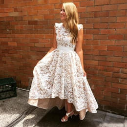 Lace Short Bridesmaid Dresses 2018 High Low Backless Wedding Party Dress Maid of Honor Gowns Custom Made