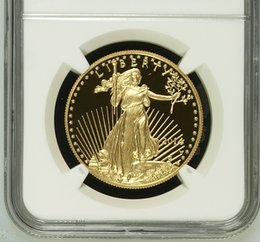 Wholesale Verified American Eagle one troy Ounce fine gold coin graded PF70 and sealed in original case