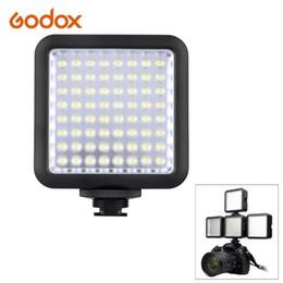 Grossiste-Godox LED64 Vidéo Lumière LED pour DSLR caméra mini DVR comme lumière de remplissage pour le mariage Nouvelles Entrevue Macro photographie supplier news video à partir de nouvelles vidéo fournisseurs