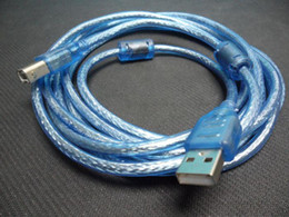 Wholesale Blue USB A TO B Printer scanner cable Lead Printer Cables m m m m m m