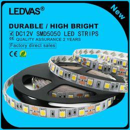 LEDVAS LED strips 5050 DC12V waterproof light 60led m,5m lot ,RGB, White,Warm white, Cold white,Blue,Green,Red,Yellow