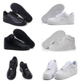 Wholesale 17 New Classical Men Women sport shoes air shoes One Famous Trainers Force ones high Low running shoes love shoes Air Fast Shipping