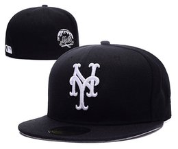 Wholesale and retail color Men s full Closed New York Mets fitted hat sport team NY tone on field baseball cap Fashion hip hop cap