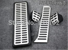 Wholesale steel irons LHD New Listing Stainless Steel Manual Transmission MT Pedal For VW Passat B6 B7L R36 CC Kit