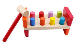 Wholesale R Us Baby s First Learning Education Toys Wooden toy color piling platform Playing hamster game Training and coordination Baby Toy
