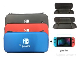 Hard Travel Protective Storage Pouch Bag For Nintendo Switch NS NX Console Cover Case Game Accessories+glass film.