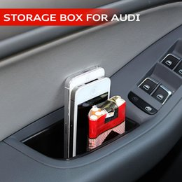Wholesale 2pcs set Storage Box Interior Door Trim Panel Pull Handle Position Door Tank For Audi New Q5