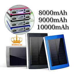Wholesale Portable mAH Solar Battery Panel External Charger Dual USB LED Charging Ports Backup Power Bank for Laptop Iphone Samsung Cellphone