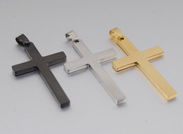 .Men's Classic Stainless Steel Mens Chains 18K Real Gold Plated Vintage Latin Christian Cross Pendants Necklaces 164