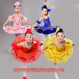 Pink Blue Children's Ballet Dancing Dress Girl Ballroom Tutu Dancewear Clothes Outfits Kids Swan Lake Ballet dancing Costumes