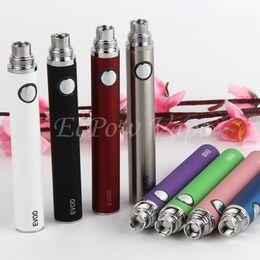 EVOD Vape battery Pen E cigarette 510 For MT3 CE4 CE5 Vaporizer Atomizer Tank Vapes Electronic Cigarettes ECig Pens By ePacket MOQ 5Pcs