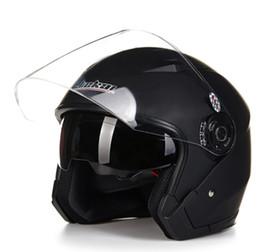 Cascos de carreras de la vendimia en venta-Casco moto cara abierta capacete para motocicleta cascos para moto Racing Jiekai motocicleta cascos vintage con lente dual
