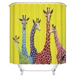8 Styles New Spring Patterm Pastrol Style Polyster Fabirc Waterproof High Quality Shower Curtain With Hooks
