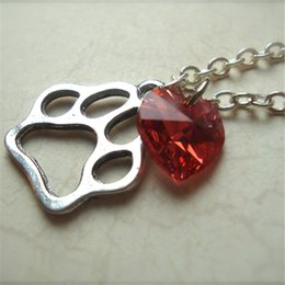 20pc I Heart Ed ~ Ed Sheeran Inspired Paw Print Necklace jewelry silver antique jewelry
