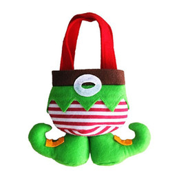 Wholesale Christmas Stocking Holders Wholesale - CHEAPEST!!IN STOCK Santa Elf Candy Bags Gift Holder wedding party Christmas NEW year Gift Bags Xmas Bags for Children