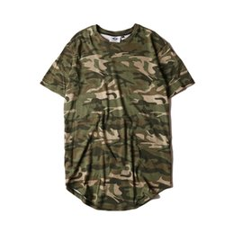 Wholesale Men T shirt Fashion new streetwear Novelty cotton breathable Anti pilling belt casual loose camouflage T shirt