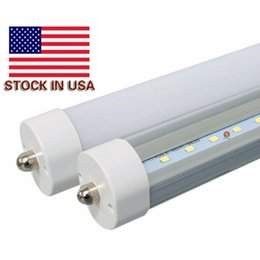8ft led tubes double sides 3000K Warm White Fa8 T8 Led Tube Lights High Super Bright 4800lm Cool White Led Fluorescent Tube AC110-277V