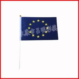 Syndicats d'usine en Ligne-Le drapeau de l'Union européenne, drapeau de 14 * 21cm a stock et livraison gratuite, usine de drapeau de petite taille directement