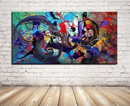Single Unframed Modern Oil Painting Abstract Color On Canvas Giclee Wall Art picture for Living Room Home Decoration (Size:5 sizes)