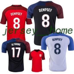 Wholesale Top Thai quality USA Jerseys United States Shirt DEMPSEY DONOVAN BRADLEY ALTIDORE America Cup Home Away rd football shirt