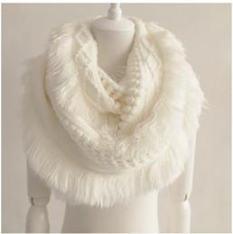 2016 Fashion Women Scarves Autumn Winter Warm Knit Cashmere Scarf Cowl Neck Circle Shawl Wrap Ring Scarf Christmas Gift