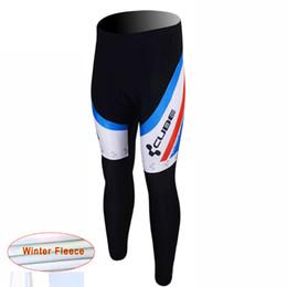 2017 baberos ciclismo cubo CUBO equipo Invierno Termal Fleece Long Pantalones Ciclismo Pantalones / desgaste de ciclismo + babero pantalones largos ciclismo maillot D1142 baberos ciclismo cubo outlet