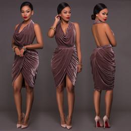 Wholesale European Sexy Suit dress Best Sellers Velvet High Archives Dress Nightclub Skirt L9808 The price of