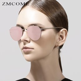 ZMCOME New Fashion Women Sunglasses Classic Double Bridge Shades Brand Designer Men Reflective Mirror Glasses UV400 Gafas