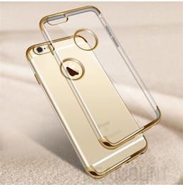 50 pcs Wholesale for iPhone 5 6 7 7 Plus Case Cover Simple Silicon TPU Soft Back Phone Capas Transparent Protection Phone Case