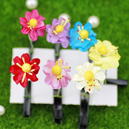 Wholesale Sell new adorable artifact simulation plant bean grass flowers grass sugar treasure hairpin hairpin