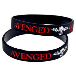 Wholesale 100PCS Lot Avenged Sevenfold Silicone Wristband Great To Used In Any Benefits Gift For Music Fans