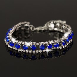 New Fashion Hot Women's Girl's Filled blue color Austrian Crystal Bracelets & Bangles Gift women Jewelry B022