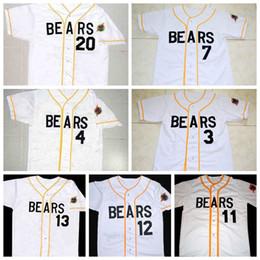 Wholesale The Bad News Bears Button Down Mens Tanner Boyle Kelly Leak White Movie Baseball Jerseys