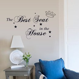 Wholesale 18 cm Wall Stickers DIY Art Decal Removeable Wallpaper Mural Sticker for Kids Room Bedroom Living Room DZ030 the Best Seat in the House