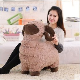 Wholesale 60cm Big Animal Sheep Stuffed Toy Soft Cute Goat Plush Pillow Kids Play Doll Baby Present