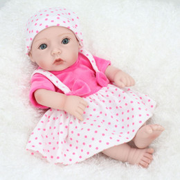 Cute Reborn Baby Girl Doll Realistic Soft Silicone Vinyl Newborn Baby Child Kids Birthday Toy Gift 28cm