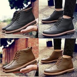 Wholesale Leather Lace Winter Dress - Warm Wool!!! Winter Men's Geniune Leather Shoes Man Causal Shoes Top Boots Dress Shoes Winter Man Dress Shoes Leather Shoes Martin Boots