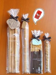 Promotion sac de rangement clair Grossiste-100pcs Clear lace Cookie Bag / cellophane en plastique / pour l'emballage de boulangerie cadeau Emballage 6x20cm