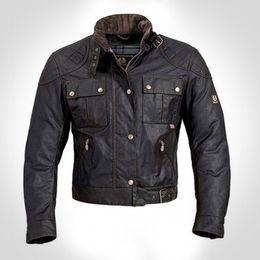 Descuento chaquetas de los hombres de cera Chaqueta de la chaqueta de la chaqueta de la motocicleta de la chaqueta del hombre del mcqueen de Wholesale-steve prendas de vestir exteriores de la cera de calidad superior La chaqueta del roadmaster
