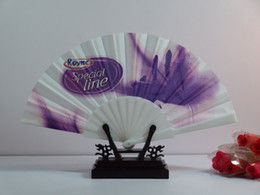 Wholesale Elegant Chinese Fold Plastic Fabric Fan With Lace rim