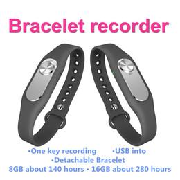 Mi bracelet de bande à vendre-Vente en gros- Colorful Wristband Smart Digital Voice Recorder Sport Bracelet 16 Go Un bouton longue durée d'enregistrement pk pour xiaomi mi bande 2