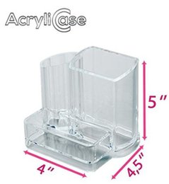 Clear Acrylic Makeup Organizer, Arranges Makeup Brushes and Cosmetics, 3 Compartment Storage Display Holder, By AcryliCase®