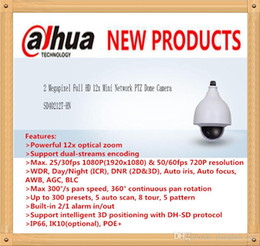 DAHUA cámara IP al aire libre 2 MP Full HD 12x Mini red PTZ Cámara domo IP66 IK10 con POE + sin logotipo SD40212T-HN desde ptz 12x proveedores
