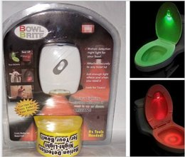 Wholesale 2 Color LED Toilet Sensor Motion Automatic Bathroom Night Light Bowl Seat Lamp Body Sensing Automatic Toilet Bowl Bathroom Light KKA1043
