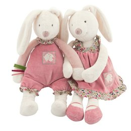 Wholesale Baby Play Soft Plush Toys High Quality Lovely Rabbit Appease Doll Baby Dolls Hold Muppet Toys cm