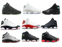 XIII 13 mens basketball shoes INFRARED 23 Grey toe Black cats XIII 13s Retros Altitude green Athletic sneaker with box size 41-47