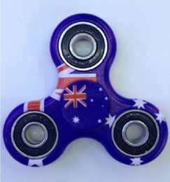 Wholesale The Australia Flag Spin 2Minutes Fidget Spinner Hand Spinner Toy Stress Reducer High Quality