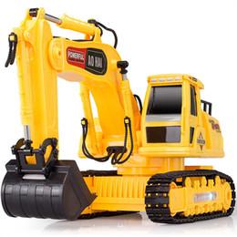 Descuento al por mayor de la ingeniería Venta al por mayor-olímpico de control remoto de ingeniería de camiones de control remoto coche excavador gancho máquina de minería de juguete automodelismo eletricos